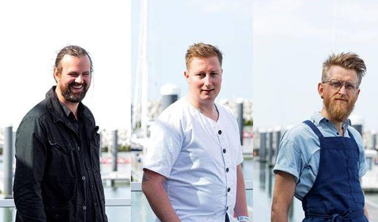 Sean Uytterhaegen, Willem Hiele en Nicolas Decloedt.