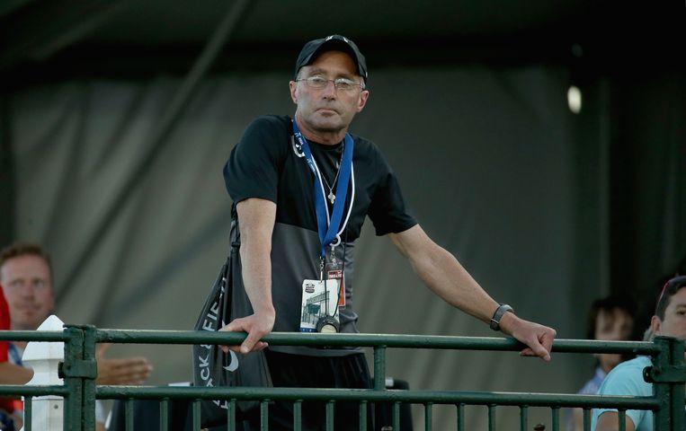 De geschorste coach Alberto Salazar Beeld AFP