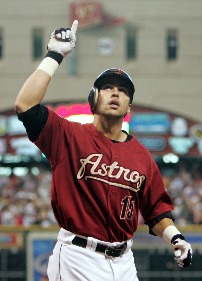 Carlos Beltrán in zijn tijd bij Houston Astros.