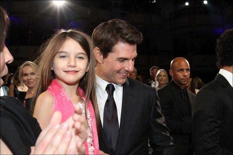 Tom Cruise  en zijn dochter Suri in 2012.