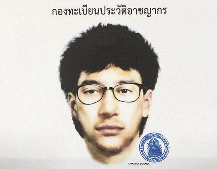 Schets vrijgegeven door de Royal Thai Police.