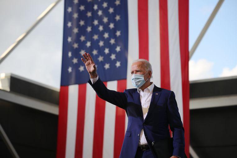 Joe Biden op campagne. Beeld Getty Images