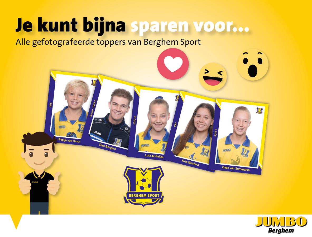 De actie van Berghem Sport en Jumbo gaat woensdag van start.