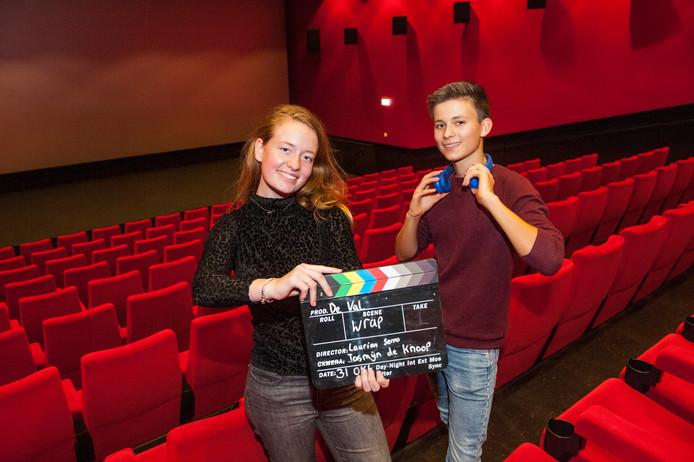 Laurian Serno (17) en Jasmijn de Knoop (17) uit Gouda maakten een professionele film over depressie.