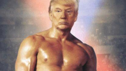 Trump post foto van zichzelf als Rocky, en niemand weet wat hij ermee bedoelt