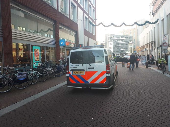 De politie kwam ter plaatse om de boel te sussen.