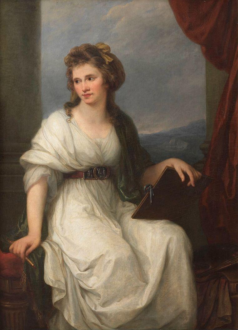 Angelika Kauffmann, Zelfportret in all'antica kostuum, 1787. Beeld
