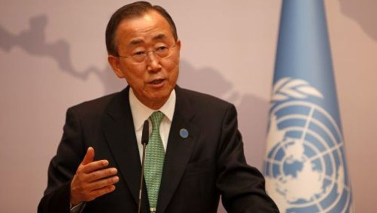 Secretaris-generaal van de Verenigde Naties Ban Ki-moon. ANP Beeld