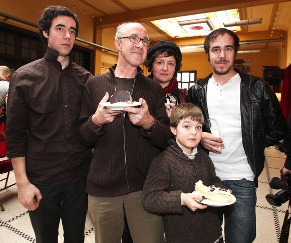 Met Leander, Sigrid, Luca en Jasper tijdens 60 jaar Raymond in de Roma in Antwerpen.