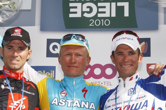 Alejandro Valverde, Alexandre Vinokourov, Alexandr Kolobnev.