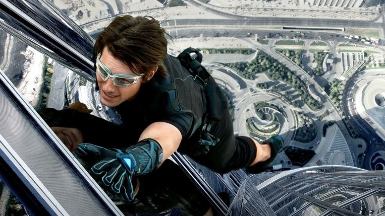 Tom Cruise in Mission: Impossible - Ghost Protocol. Beeld