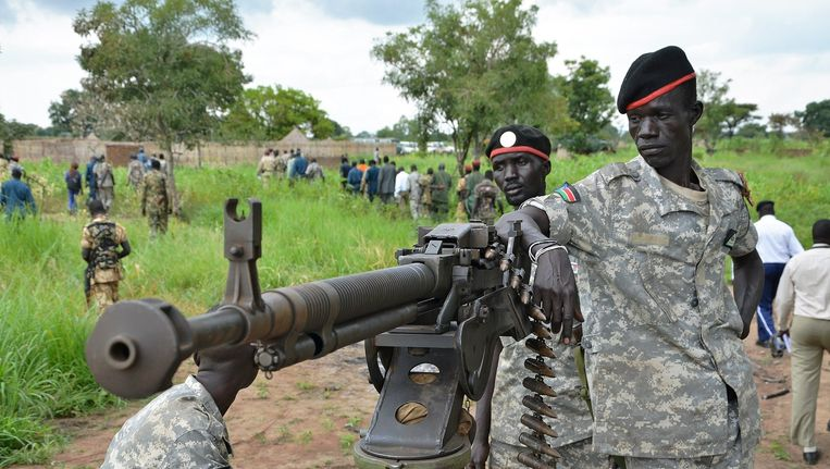 Soldaten van het Zuid-Soedanese leger Beeld afp