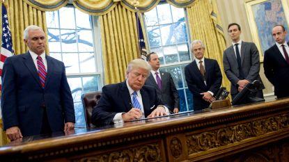 """""""Verwerpelijk en on-Amerikaans"""": oppositie snoeihard voor Trumps nieuw inreisverbod"""