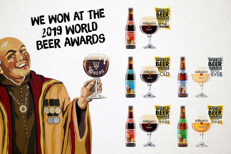 Brouwerij St.Bernardus uit Watou wint 5 medailles op World Beer Awards.