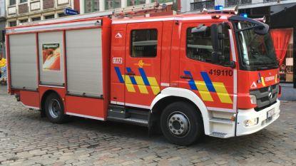 Acht bewoners geëvacueerd na gebouwbrand in Anderlecht