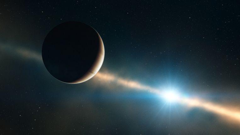 Een impressie van planeet Bèta Pictoris b. Beeld ESO/L. Calcada