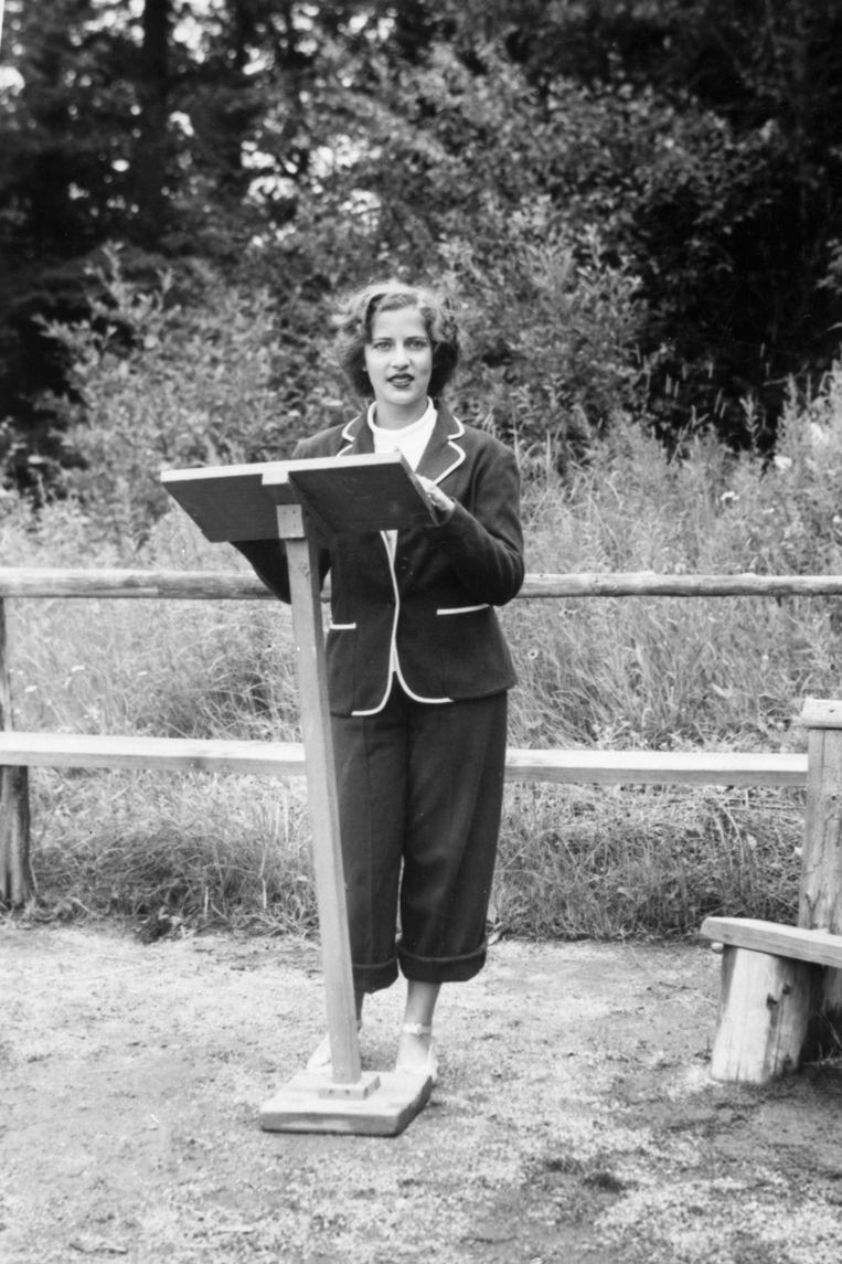 Ruth Bader in 1948.  Beeld AP