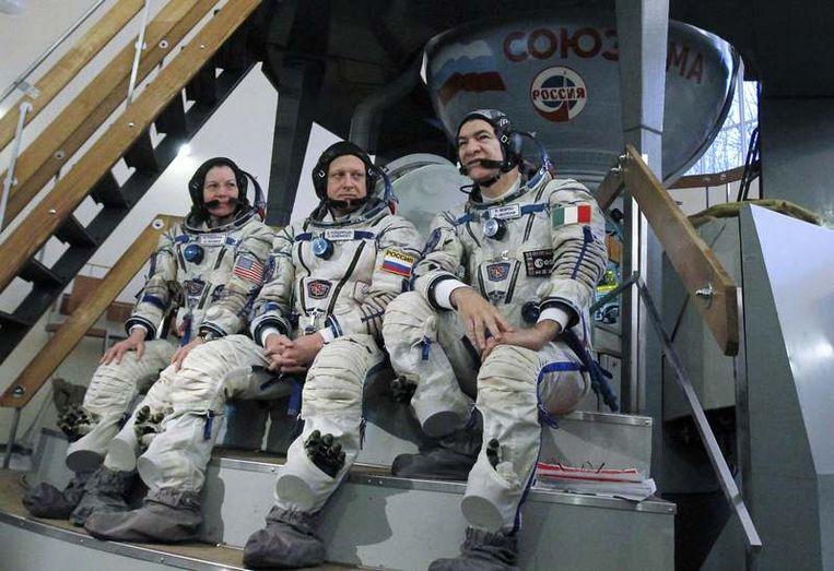Crew van het ISS. Beeld reuters