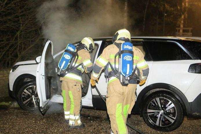 Autobrand Laan van Vollenhove Zeist