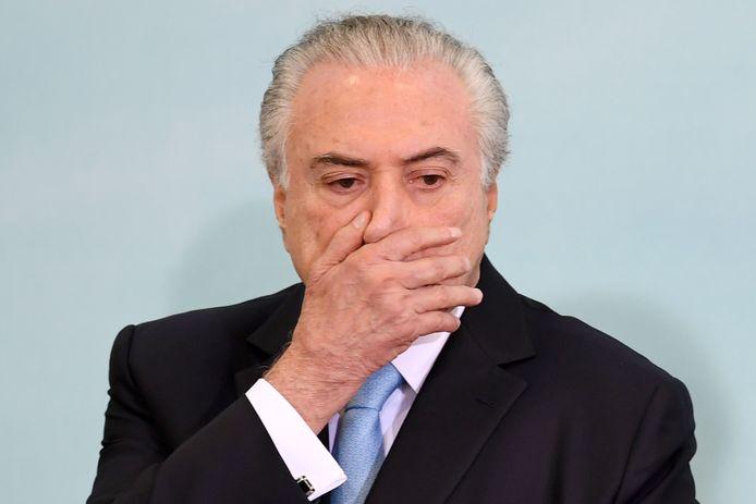 De Braziliaanse president Michel Temer.
