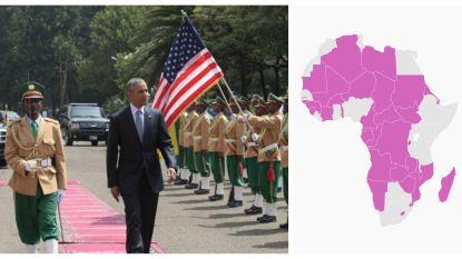 Deze Afrikaanse landen kregen nog nooit een Amerikaanse president over de vloer