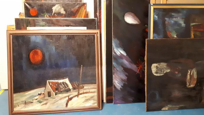 Werk van Theo van der Horst, zaterdag te zien en te koop.