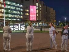 Isala in Zwolle en Meppel eert eigen zorgpersoneel met grote gevelprojectie