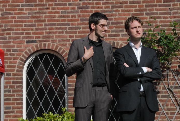 Het komische duo Roovers & Van Leeuwen wist onder het publiek de lachspieren wel in beweging te brengen
