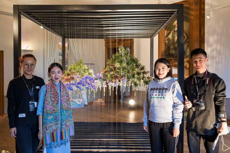 Enkele studenten van COHIM Flower School Beijing (China).