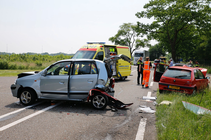 Ongeluk in Hulten.
