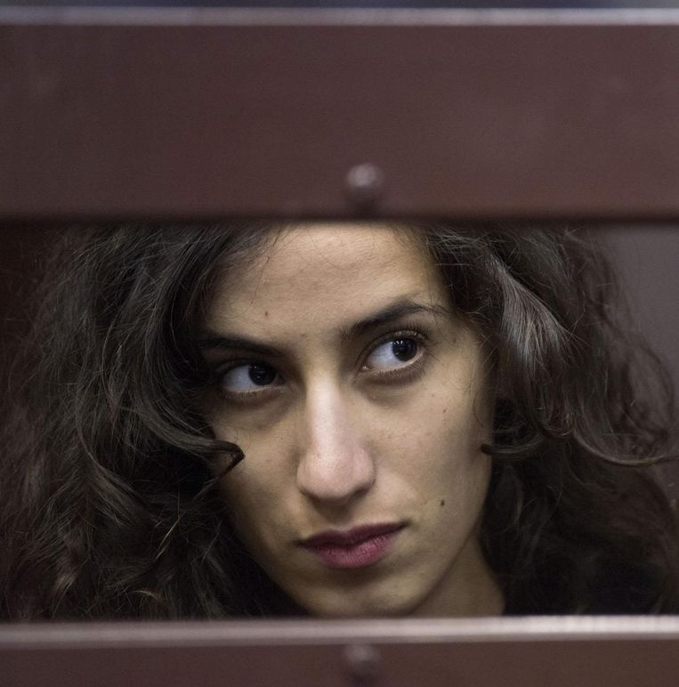 De Nederlandse Greenpeace-activiste Faiza Oulahsen Beeld EPA