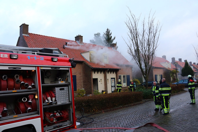 De brand in de Wilhelminalaan in Heesch.
