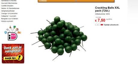 'Stop alsjeblieft met verkoop van knetterballen'