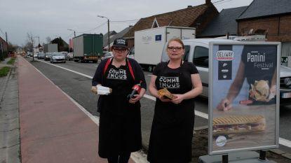 Broodjeszaak brengt bestellingen... naar automobilisten in file