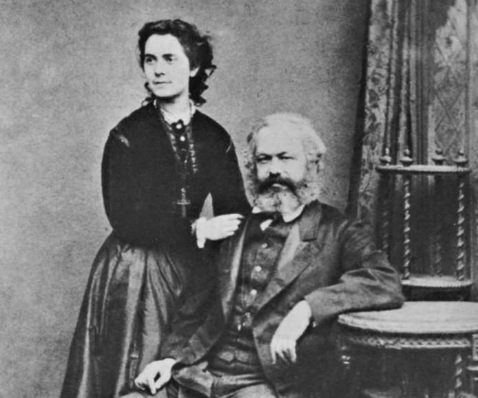 Eleanor Marx et son père Karl Marx.
