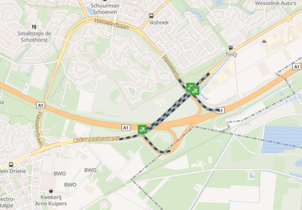 Deze twee kruispunten in Hengelo krijgen een intelligente verkeersregelinstallatie.