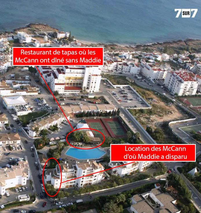 La station balnéaire de Praia da Luz, dans le sud du Portugal