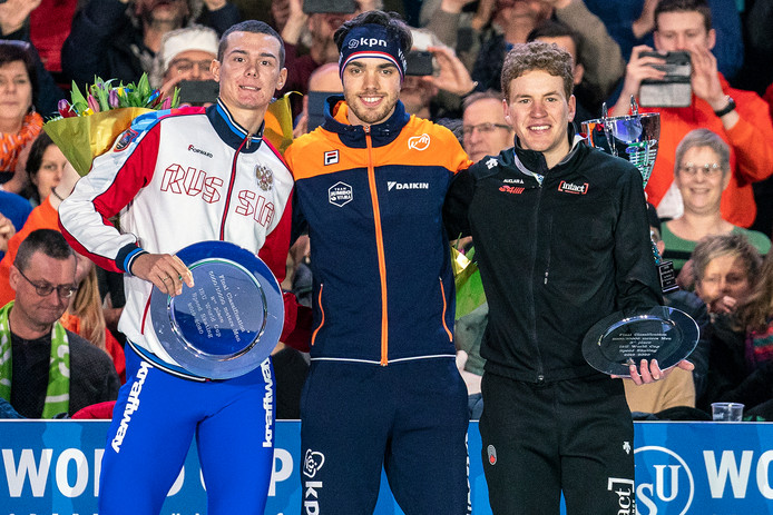 Danila Semerikov, Patrick Roest en Graeme Fish.