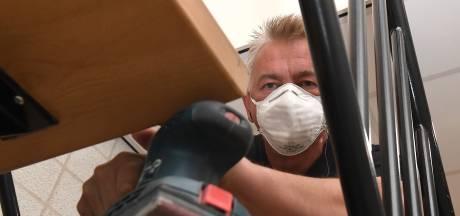 Organisator ondernemersbeurzen in het Land van Cuijk en Gennep is nu tijdelijk schilder en glazenwasser