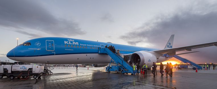 De Boeing 787 Dreamliner van KLM. Beeld anp