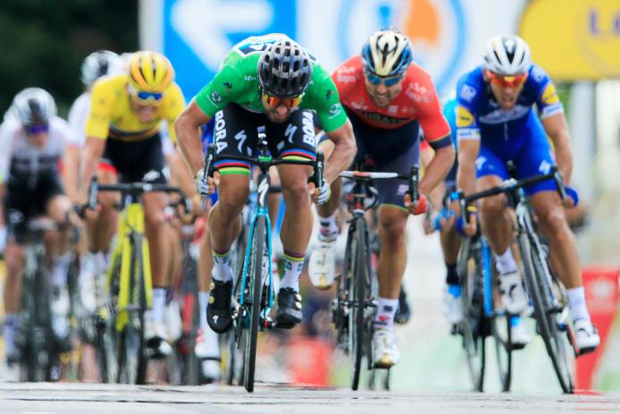 Peter Sagan in het groen.