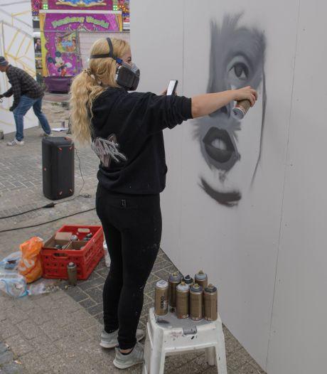 Verpauperd Ebenaupand in Hengelo krijgt kleur dankzij Street Art Kunstenaars