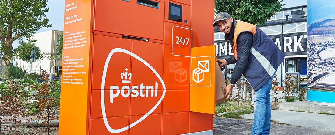 Een Brief- en Pakketautomaat van PostNl. Ook Eindhoven krijgt er voorlopig twee: aan de Hoogstraat en de Heezerweg.