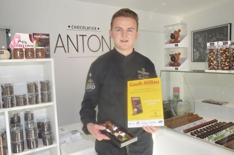 Chocolatier Anton werd vorig jaar het eerst opgenomen in de nieuwe Gault & Millau voor chocolatiers.