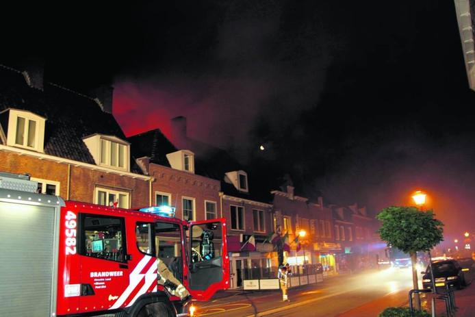De brand in de Rhenense pizzeria. Foto Peter Kühl