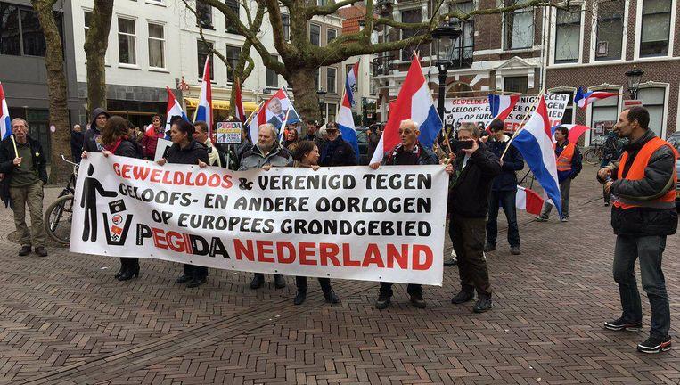 Archiefbeeld - een eerdere actie van Pegida in Nederland