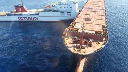 Twee containerschepen botsen op Middellandse Zee, brandstof in zee gelekt
