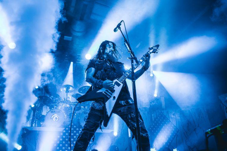 Robert Flynn van Machine Head tijdens een optreden in Berlijn, 2018. Beeld Getty Images
