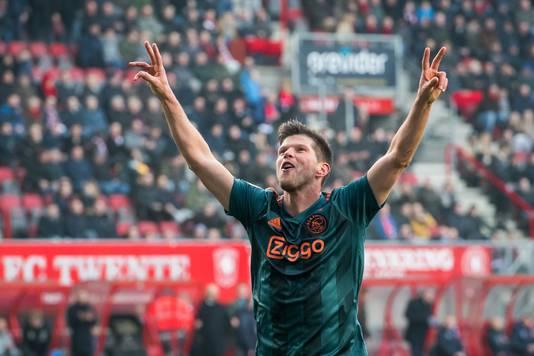 Klaas-Jan Huntelaar na zijn goal tegen FC Twente