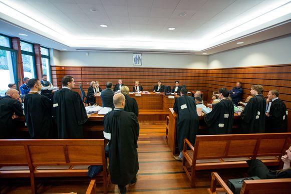 De zittingszaal in de correctionele rechtbank van Tongeren, waar de zaak behandeld werd.